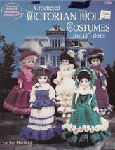 "Crochet Victorian 15"" Doll Clothes Costumes Pattern 1099 American Needlework - $9.98"