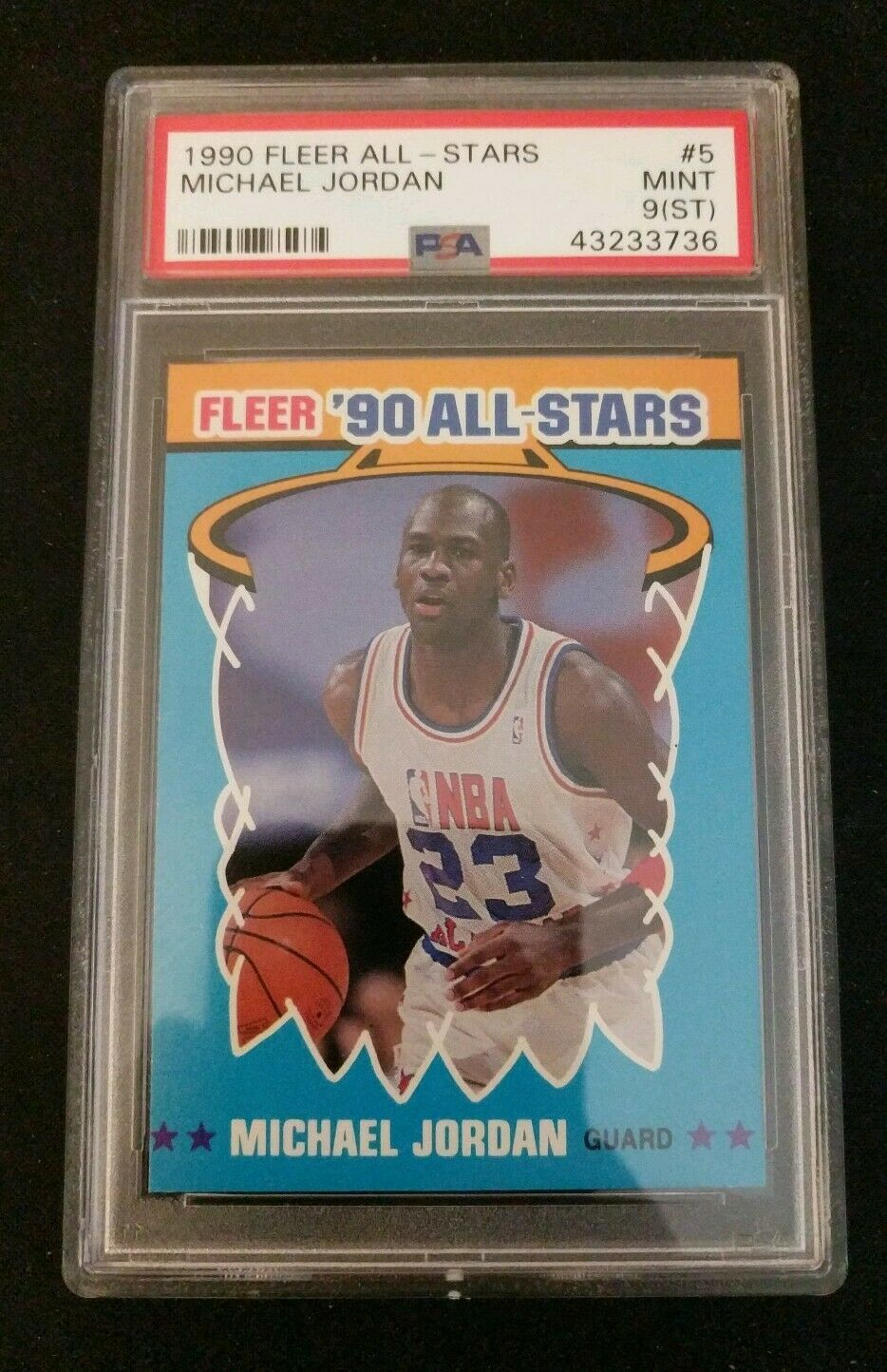 1990 Fleer All Stars Michael Jordan Sticker #5 MINT 9