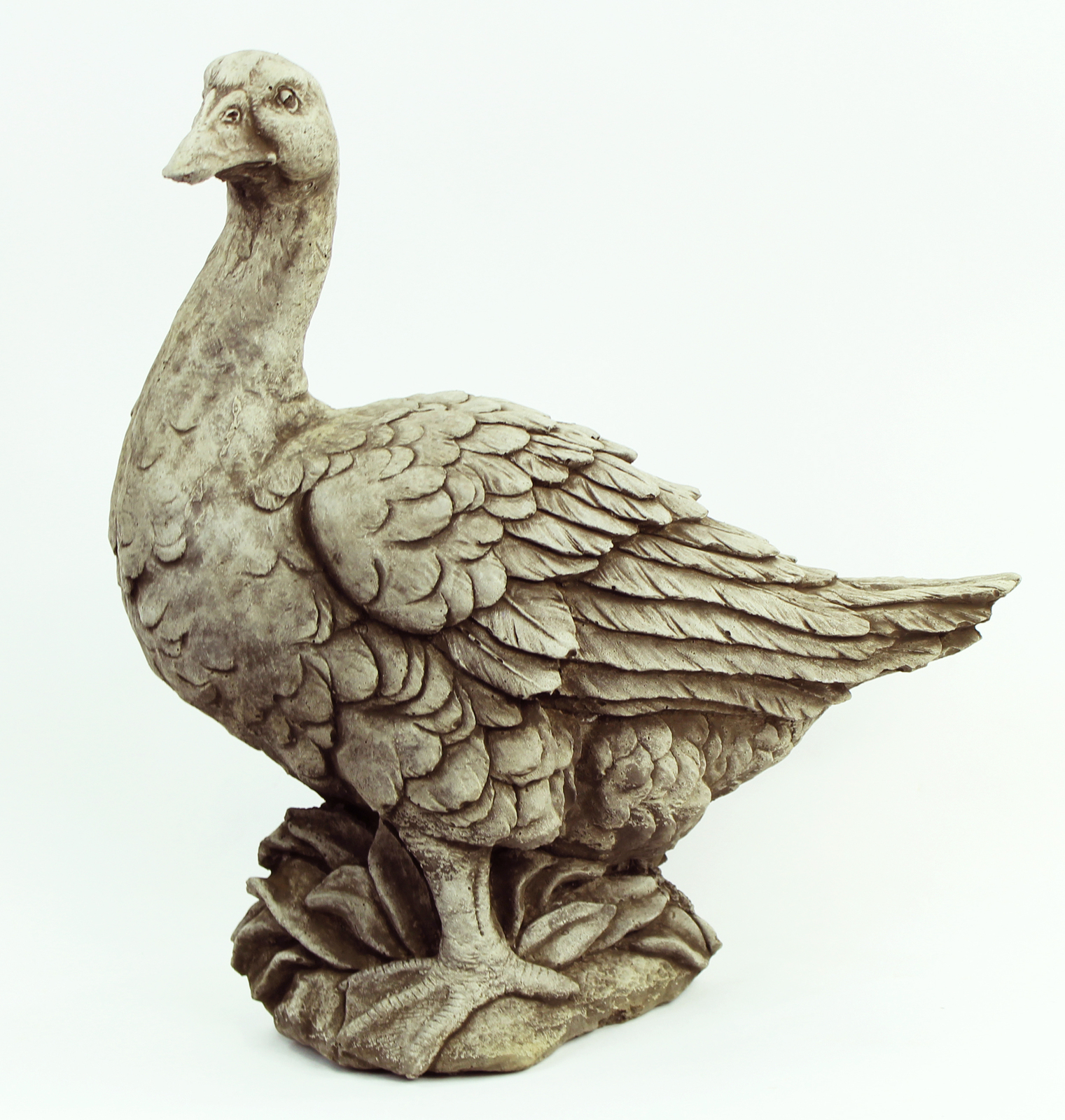 Farmers Duck Concrete Statue