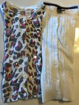 Lot of 2 Cardigan Kid Girl Joe Fresh Animal Print Sequins 10-12 Gap Cabl... - $7.96