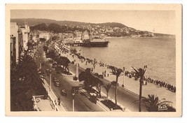 Nice Cote d'Azur France English Promenade Casino 1938 Rella Postcard Mon... - $6.69