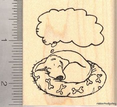 Dreaming Dog Rubber Stamp H12111 WM cute, adorable, nap time - $13.95