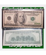 1996 Double Zero AA A1 Boston $100.00 STAR Note with Pre-Fold Facial Ink... - $214.93