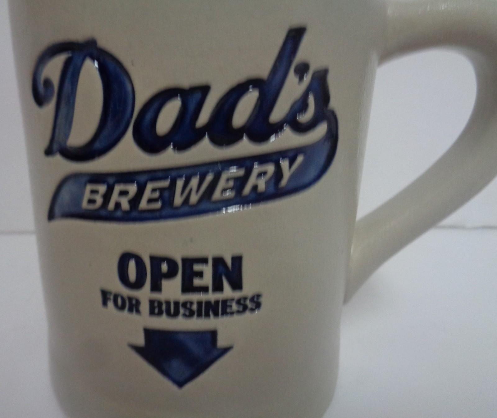 Hallmark Dad's Brewery Open For Business Mug Built In Bottle Opener 16 oz