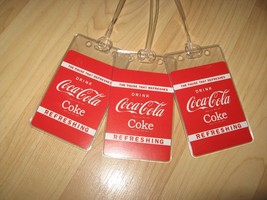 Coca Cola Luggage Tags - Coke Soda Pop Playing Cards Suitcase Name Tag Set (3) - $19.78