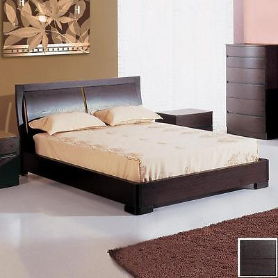 BH Maya King Size Platform Bedroom Set Espresso Contemporary 2 Night Stands