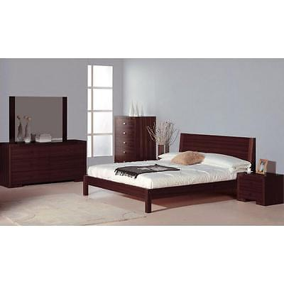 BH Alpha King Size Platform Bedroom Set 2 Night Stands Wenge Contemporary Style