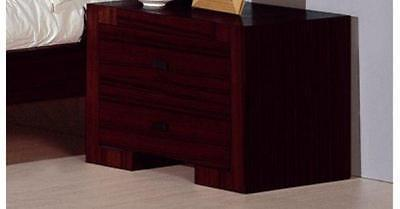 BH Alpha Queen Size Platform Bedroom Set 2 Night Stands Wenge Contemporary Style