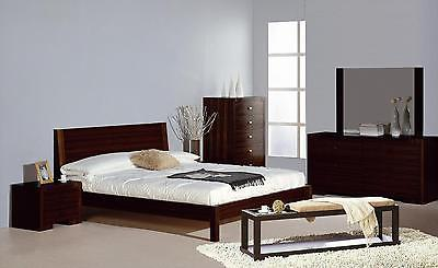 BH Alpha Queen Size Platform Bedroom Set 5pc. Wenge Contemporary Modern Style