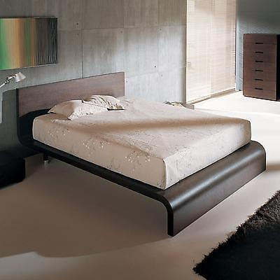 BH Cosmo Queen Size Platform Bedroom Set 2 Night Stands Wenge Contemporary Style