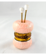 Limoges Box - Knitting Needles & Pink Skein of ... - $105.00