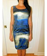 LAFAYETTE 148 REBECCA MOONLIT WAVE SHEATH DRESS SIZE 0 NWT $598 - $128.69