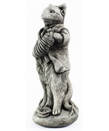 Cat Concrete Statue with Concertina   - $205.00