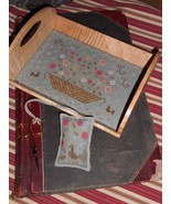 Floral Basket Tray & Fob cross stitch chart by Chessie & Me   - $10.80