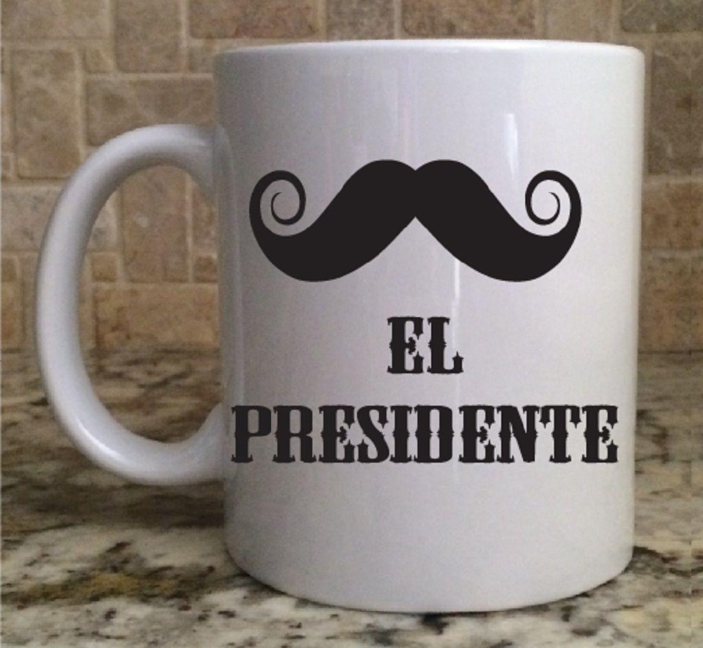 Ceramic Coffee Tea Mug Cup 11oz White El Presidente Great
