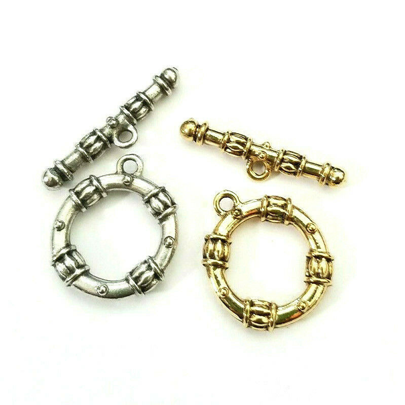 ORNATE FINE PEWTER TOGGLE CLASP SET - SEE PHOTO FOR DIMENSIONS