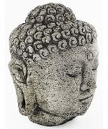 Buddha Head Concrete Statue 13.5 inches H x 10.5 inches W - $175.00