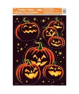 Halloween Decor House Decoration Window Decals Pumpkin Holiday Party Night  - $11.89