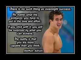 Nathan Adrian Swimmer Motivation Poster, Swim Inspiration No Overnight S... - $17.99