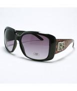 DG Women's SQUARED OVERSIZED Classic Designer Sunglasses BLACK/BURGUNDY ... - $7.87