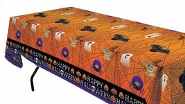 Halloween Decor Table Cover Tablecloth Decorations Home Party Holiday Ni... - $16.89