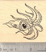 Large Squid Rubber Stamp  K-12303 WM - $15.95