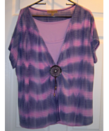 Women's Notations Size 2X Purple and Lavender S... - $14.95
