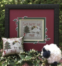 Ewe Better Not Pout ***LIMITED*** cross stitch kit by Shepherd's Bush     - $30.00