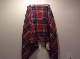 Life Is Beautiful Red Blue Green White Plaid Houndstooth Scarf Wrap Shawl