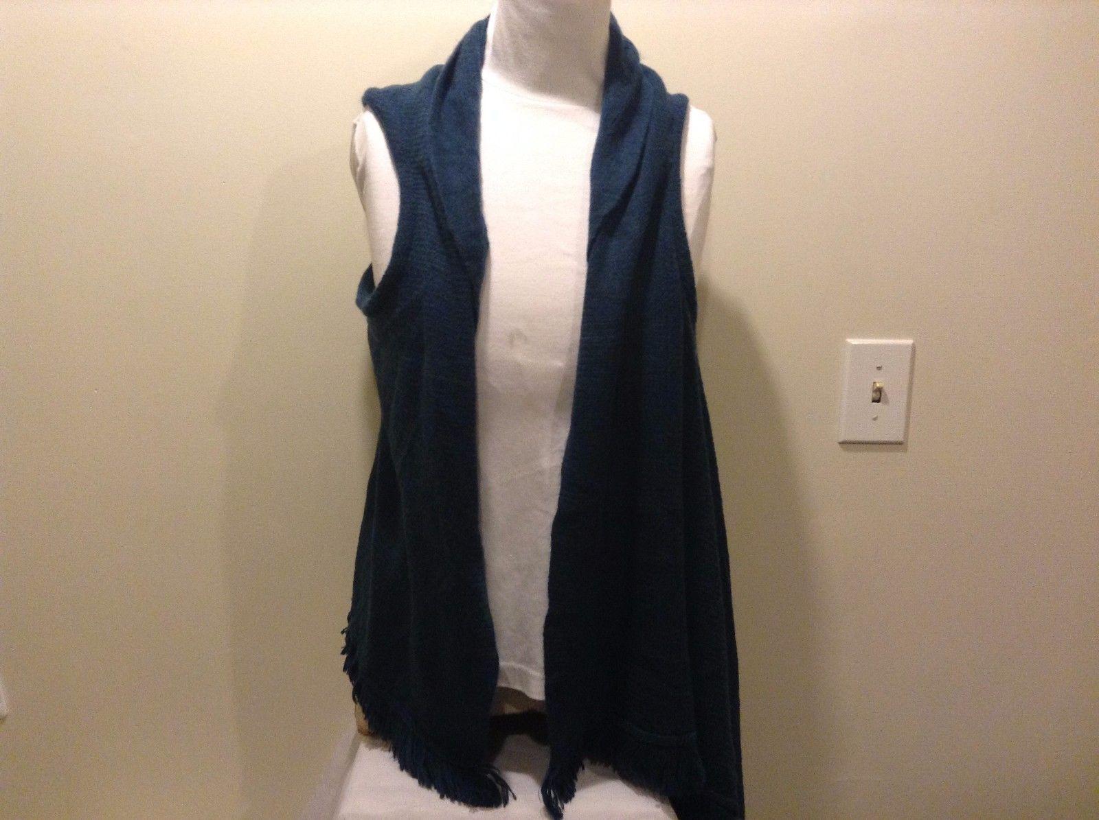 Blue Sleeved Shawl Vest With Fridge