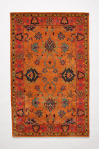 Anthropologie Laurette Overdye Hand Tufted Wool Rug , Oranges and Pinks,... - $209.88 - $641.52