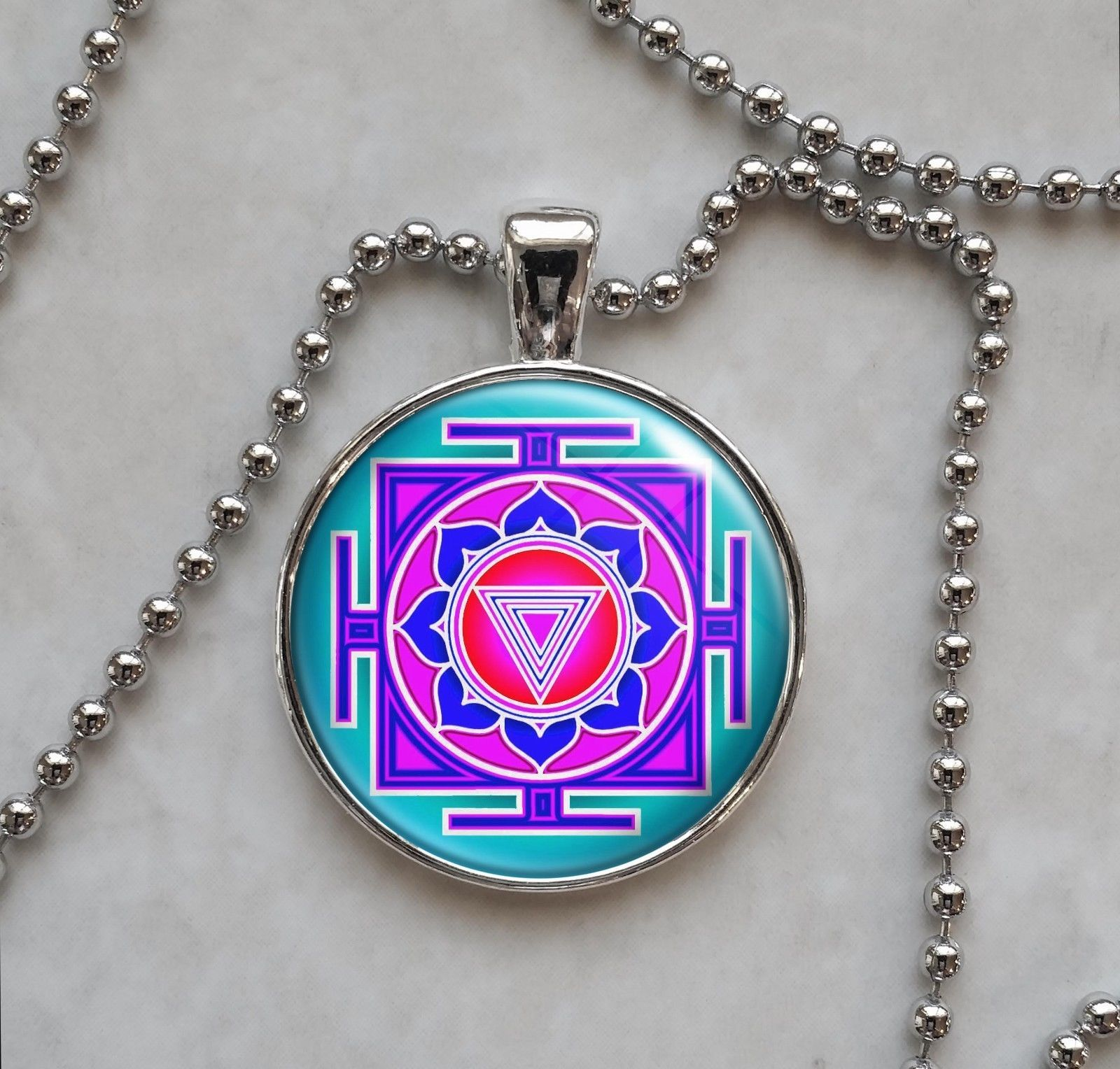 Kali Yantra Pendant Necklace