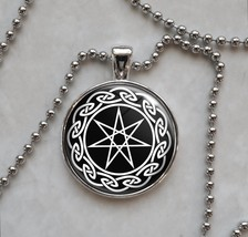 Septagram Faery Elven seven Point Star Wicca Pendant Necklace - $14.00+