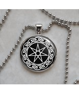 Septagram Faery Elven seven Point Star Wicca Pendant Necklace - $14.85+