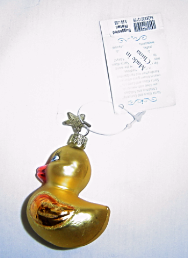 Primary image for Noble Gems Yellow Duckling Hand Blown Glass Ornament