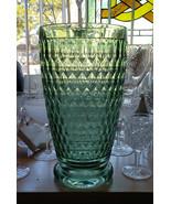 "VILLEROY & BOCH Crystal - BOSTON Pattern GREEN - 9*"" FLOWER VASE - $152.00"