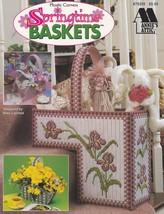 Springtime Baskets, Annie's Attic Plastic Canvas Pattern Booklet 879205 HTF - $9.95