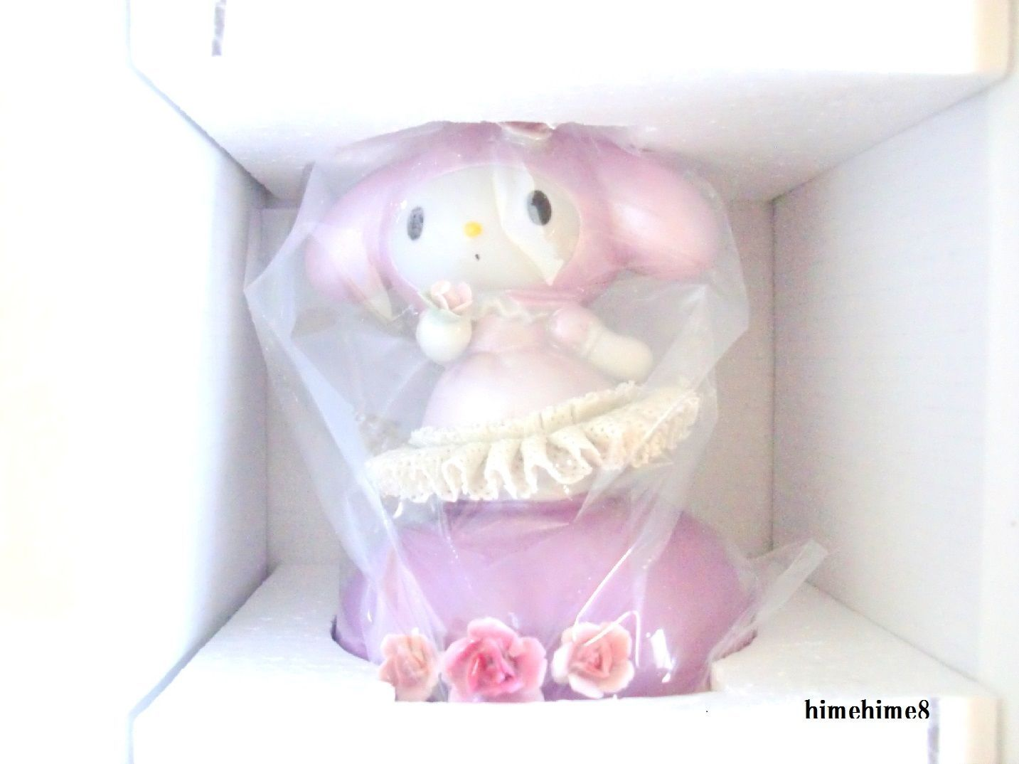 Free shipping Hello Kitty 40th Ceramic Porcelain Lace Doll Music Box PlushFigure