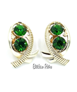 Kramer Vintage Rhinestone Earrings in Modern Fish or Bow Design  - $29.00