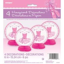 "Pink Ballerina 4 6"" Honeycomb Centerpieces Birthday Party Dance - $2.84"