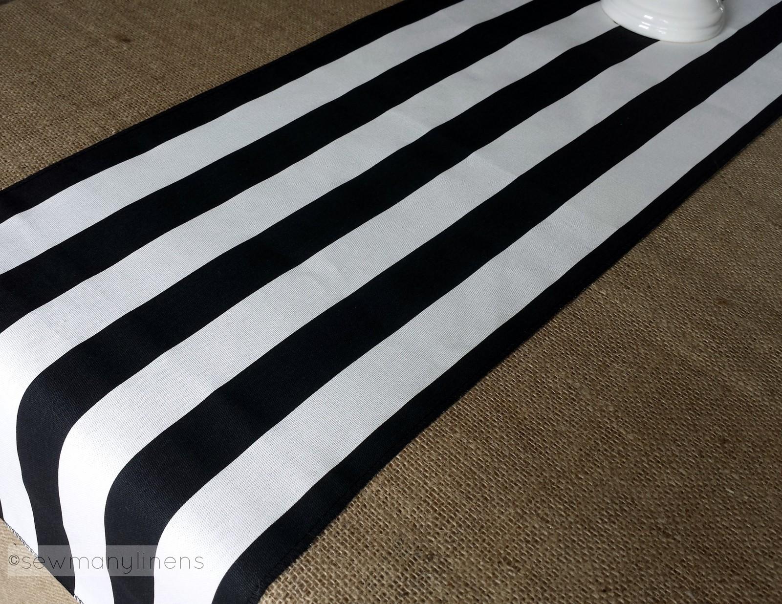 Black And White Stripe Table Runner Wedding Table