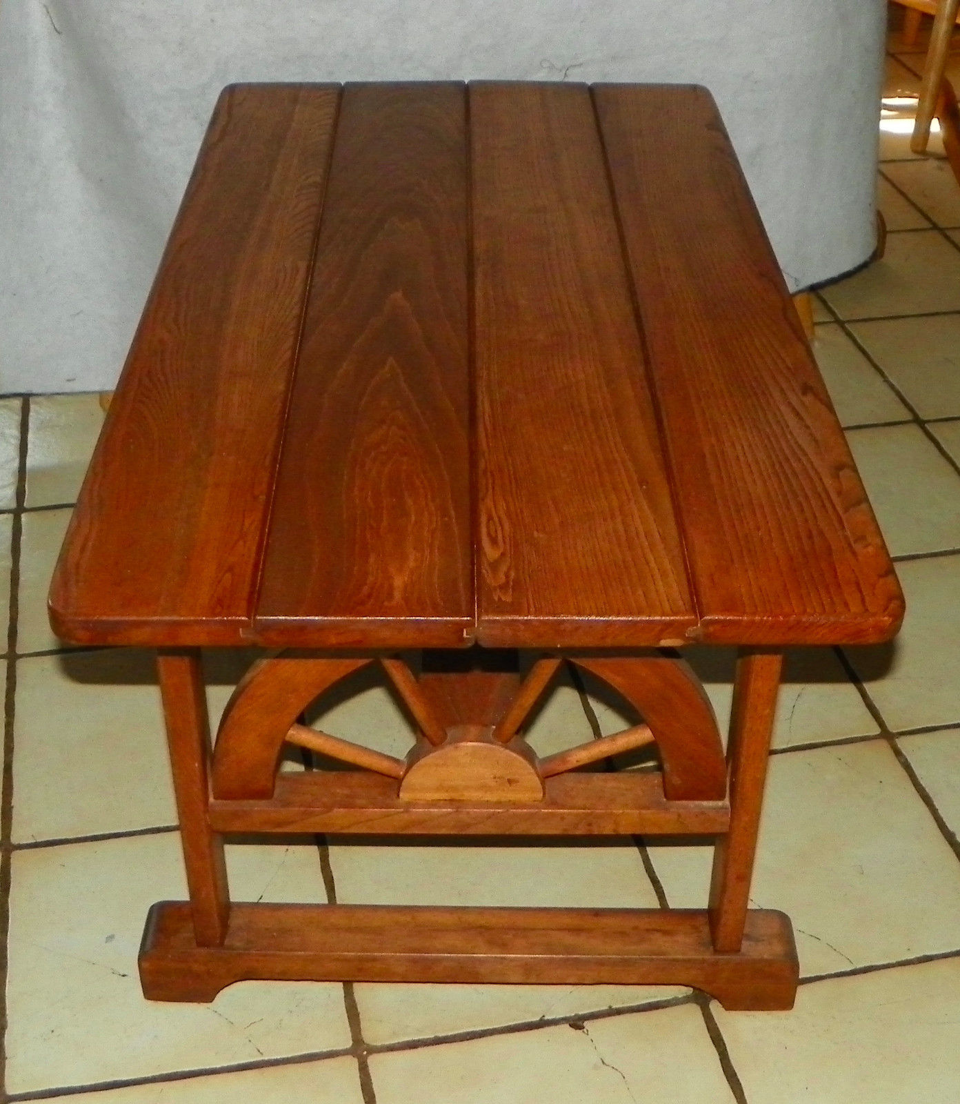 Solid Oak Wagon Wheel Coffee Table And 50 Similar Items