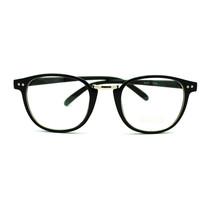 Retro Style European Designer Thin Horn Rim Eye Glasses - Black - $7.87