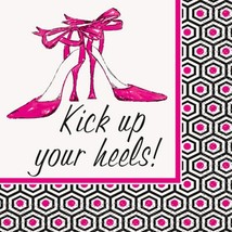 "Bachelorette Party ""Kick Up Your Heels"" 16 Beverage Napkins Shower Bridal - $2.84"