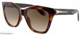 Givenchy Women's Sunglasses GV7008 QON Havana Black/Brown Gradient Lens ... - $193.95
