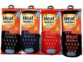 Heat Holders - Mens Thick Winter Thermal Non Slip / Skid Gripper Slipper Socks - $17.99