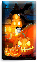 HALLOWEEN SCARY GHOSTS PUMPKINS PHONE TELEPHONE WALL PLATE COVER ROOM DE... - $8.90