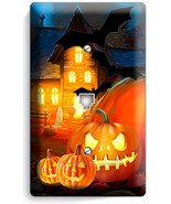HALLOWEEN SCARY GHOSTS PUMPKINS PHONE TELEPHONE WALL PLATE COVER ROOM DECORATION - $9.89