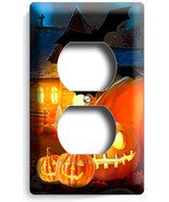 HALLOWEEN SCARY GHOSTS PUMPKINS DOPLEX OUTLET WALL PLATE COVER ROOM DECORATION - $8.99