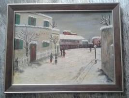 WINTER PARIS Artist LEWINE Vintage Mid Century ... - $98.50